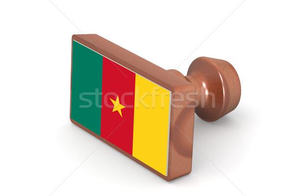 штампа Камерун флаг изображение оказанный Сток-фото © tang90246