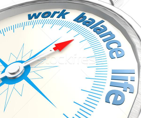 Brújula trabajo vida equilibrio imagen prestados Foto stock © tang90246