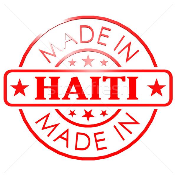 Haiti kırmızı mühürlemek iş kâğıt dizayn Stok fotoğraf © tang90246