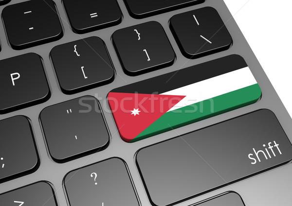 Jordania klawiatury obraz świadczonych używany Zdjęcia stock © tang90246