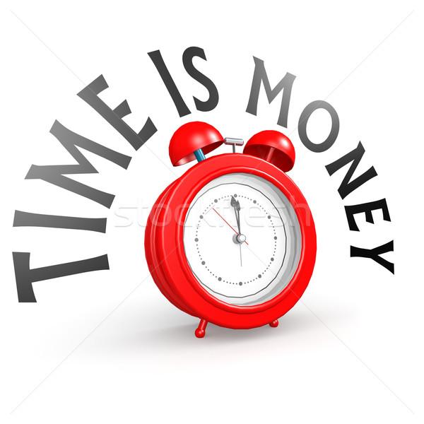 Wekker tijd is geld klok tijd financieren markt Stockfoto © tang90246