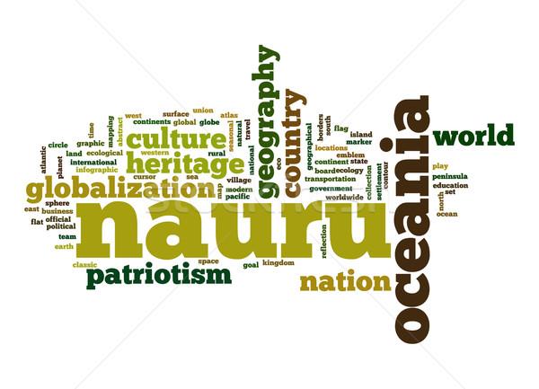 Nauru word cloud Stock photo © tang90246