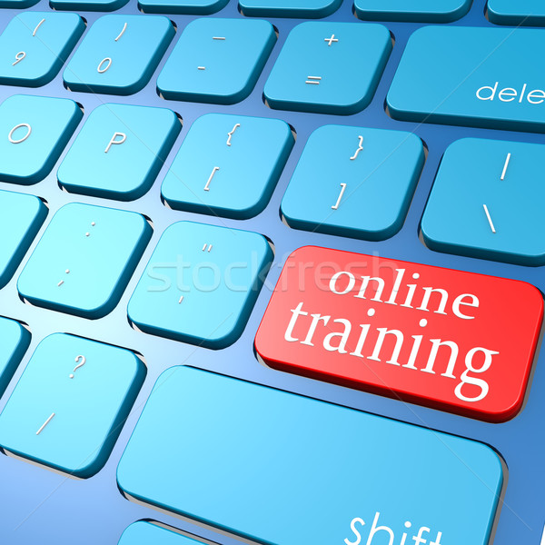 Online training keyboard Stock photo © tang90246