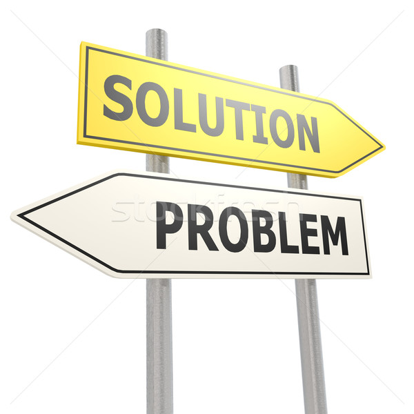 Problem solution road sign Stock photo © tang90246