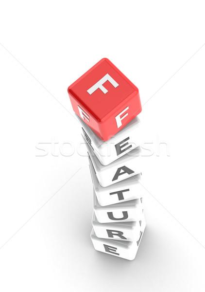 Tulajdonság puzzle szó üzlet doboz csapat Stock fotó © tang90246