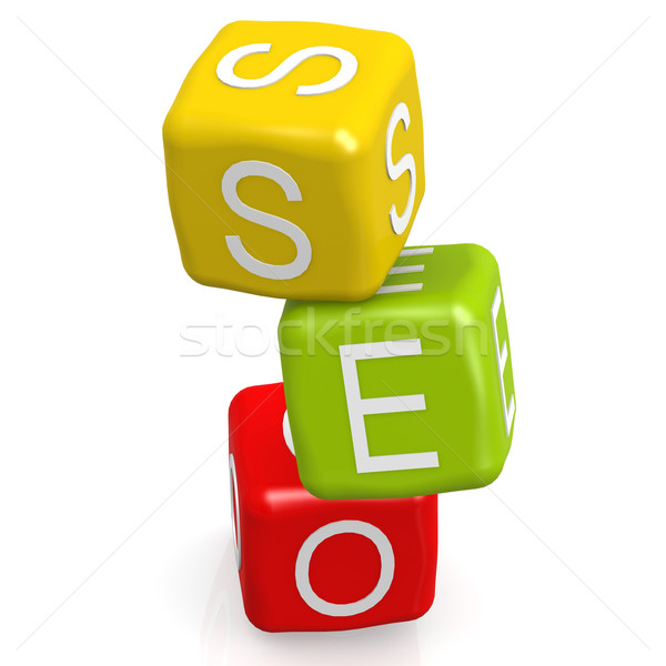 SEO dice blocks  Stock photo © tang90246