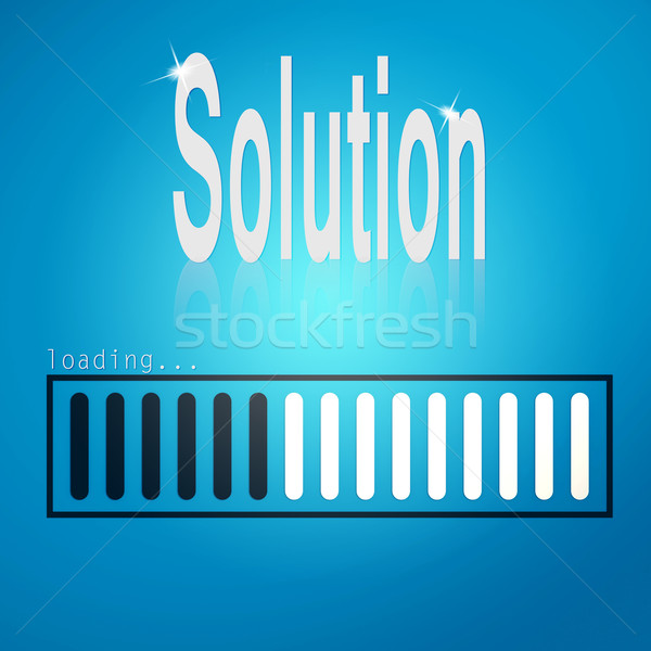 Solution blue loading bar Stock photo © tang90246