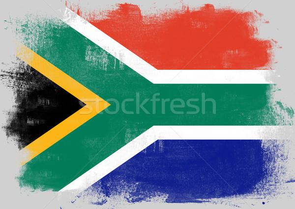 フラグ 南アフリカ 描いた ブラシ 固体 抽象的な ストックフォト © tang90246
