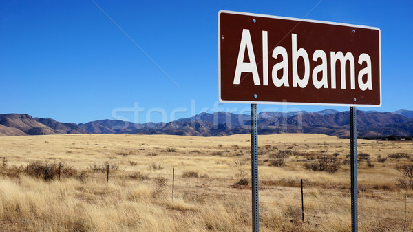 Alabama brown road sign Stock photo © tang90246