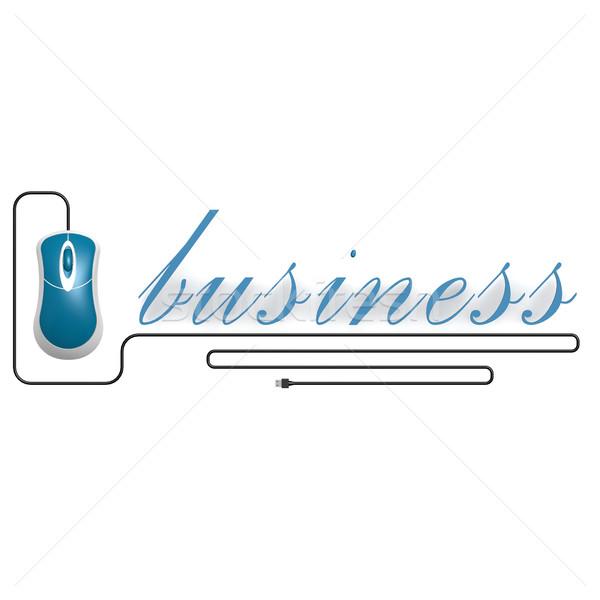 бизнеса слово Компьютерная мышь изображение оказанный Сток-фото © tang90246