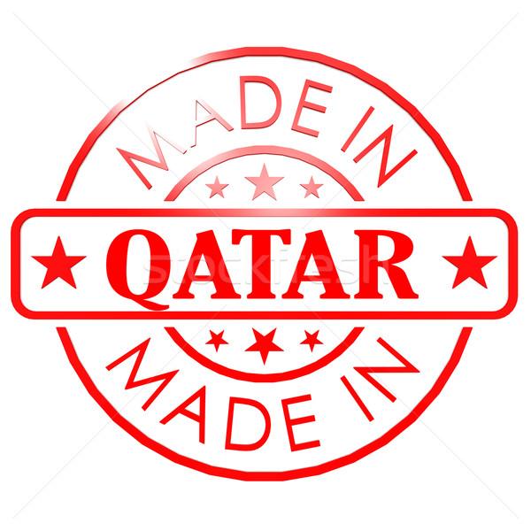 Katar kırmızı mühürlemek iş kâğıt dizayn Stok fotoğraf © tang90246