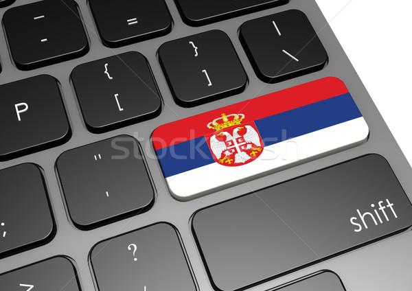 Serbia teclado imagen prestados utilizado Foto stock © tang90246