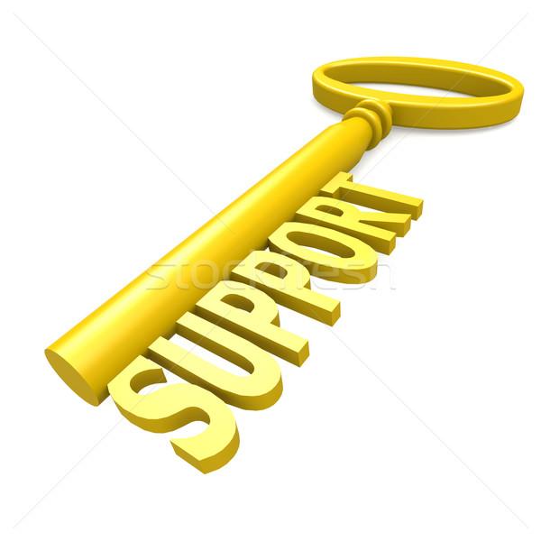Clé soutien sécurité signe Ouvrir la concept Photo stock © tang90246