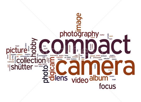 Compatto fotocamera word cloud foto fotografia testo Foto d'archivio © tang90246