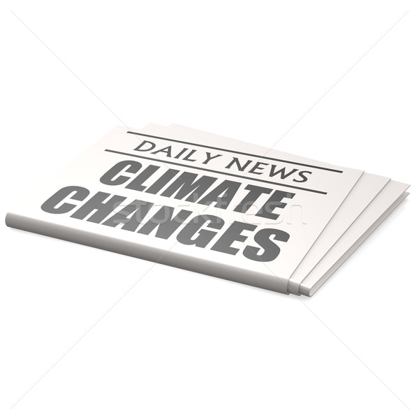 Newspaper climate changes Stock photo © tang90246