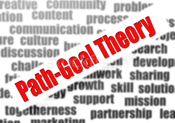 Path-goal theory word cloud Stock photo © tang90246