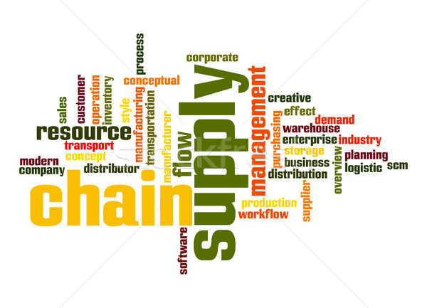 Supply chain word cloud Stock photo © tang90246