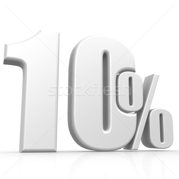 Ten percent white Stock photo © tang90246