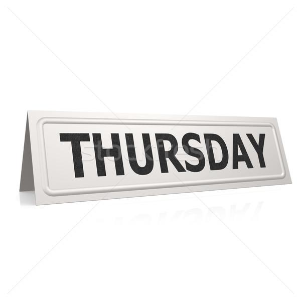 Thursday board Stock photo © tang90246
