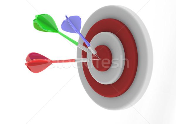 Darts tábla kép renderelt mű használt Stock fotó © tang90246