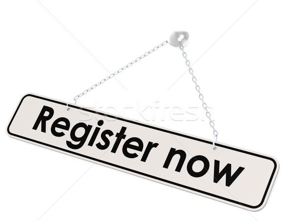Stock photo: Register now banner