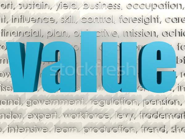 Value word cloud Stock photo © tang90246