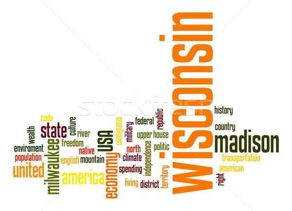 Висконсин слово облако облаке свободу история графических Сток-фото © tang90246