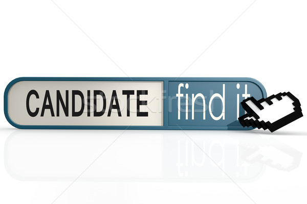 Candidate word on the blue find it banner Stock photo © tang90246
