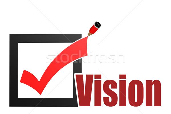 Comprobar visión palabra imagen prestados Foto stock © tang90246