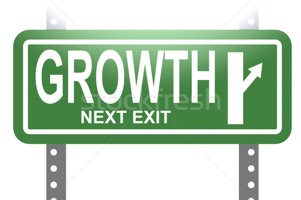 Growth green sign board isolated Stock photo © tang90246