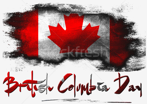 British Columbia with Canada flag Stock photo © tang90246