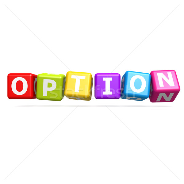 Cube puzzle option Stock photo © tang90246