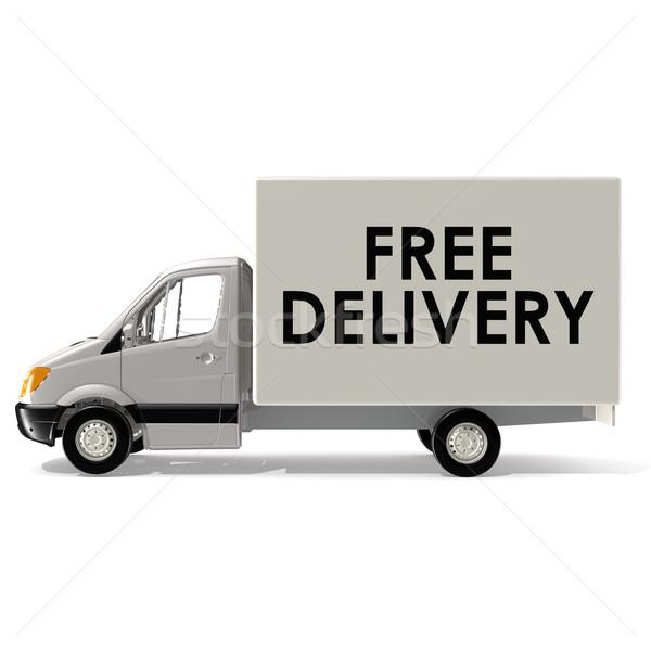 Gyors kisteherautó forgalom házhozszállítás motor autó Stock fotó © tang90246