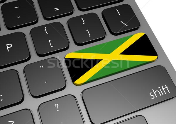 Jamaica teclado imagem prestados usado Foto stock © tang90246