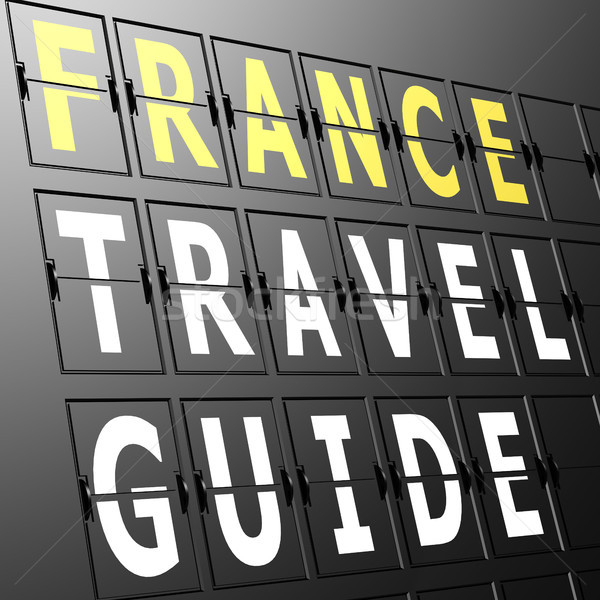 Airport display France travel guide Stock photo © tang90246