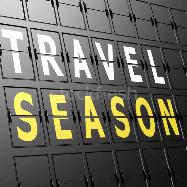 Airport display travel season Stock photo © tang90246
