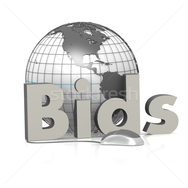 Bids, globe and mouse Stock photo © tang90246