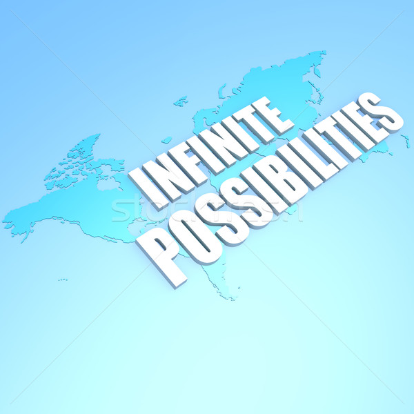 Infinite possibilities world map Stock photo © tang90246