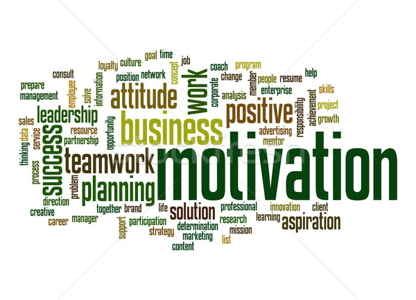 мотивация слово облако бизнеса работу облаке службе Сток-фото © tang90246