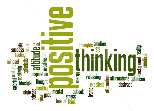 Positive thinking word cloud Stock photo © tang90246