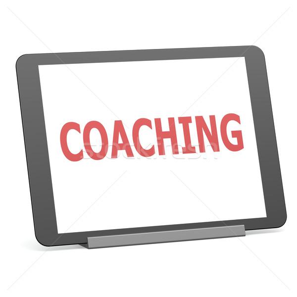 タブレット コーチング 黒 成功 デジタル 情報 ストックフォト © tang90246