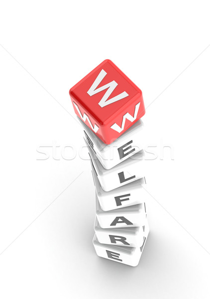 Welfare puzzle word Stock photo © tang90246