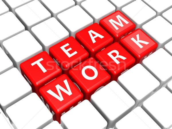 Lavoro di squadra cruciverba design cross sfondo lettera Foto d'archivio © tang90246