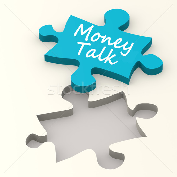 Money talk on puzzle Stock photo © tang90246