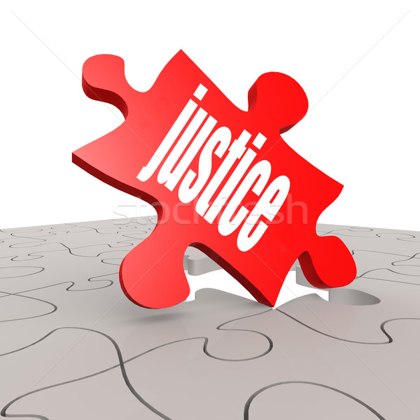 Justice word with puzzle background Stock photo © tang90246