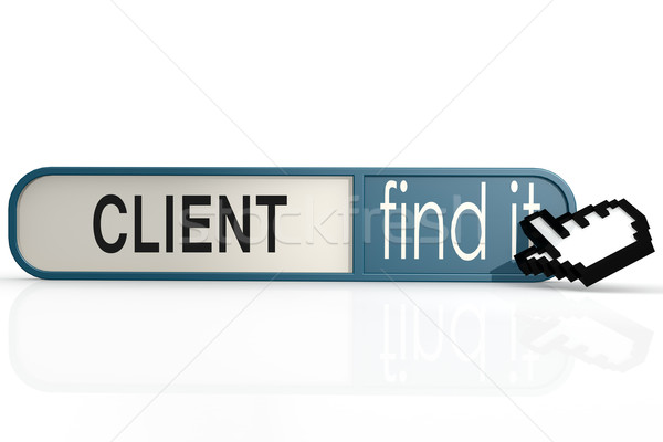 Сток-фото: клиент · слово · синий · находить · баннер · изображение