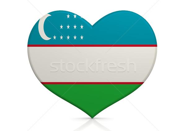 Üzbegisztán szív háttér utazás vidék ötlet Stock fotó © tang90246
