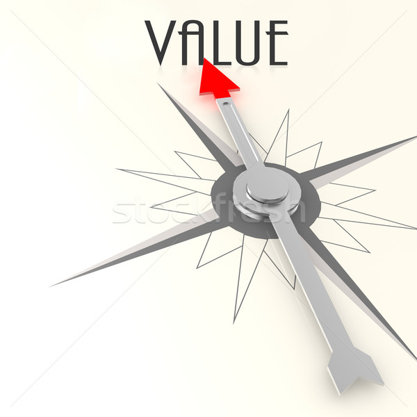 Compass with value word Stock photo © tang90246
