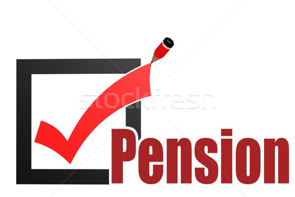 Verificar pensão palavra imagem prestados Foto stock © tang90246