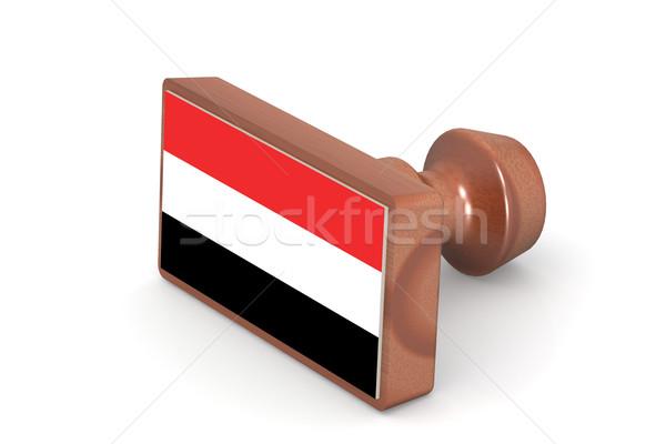 Carimbo Iémen bandeira imagem prestados Foto stock © tang90246